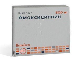Таблетки амоксициклина