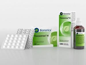 Формы выпуска Тонзилгона Н и состав препарата
