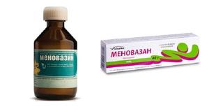 Свойства, состав и форма выпуска Меновазина
