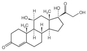 Так выглядит формула гидрокортизона