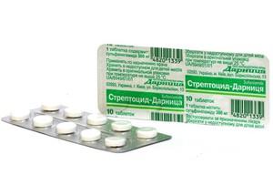 Особенности применения стрептоцида для лечения горла при ангине