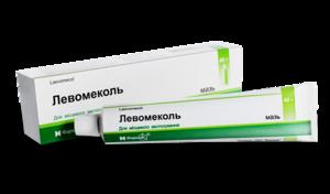 Левомеколь туба - фото антисептической мази в упаковке